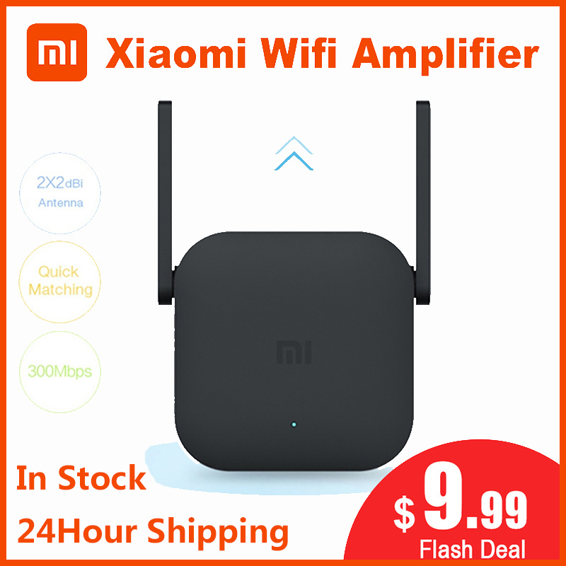 Original Xiaomi Wifi Amplifier Pro Router 300M 2.4G Repeater Network Expander Range Extender Roteader Mi Wireless Router Wi-fi image