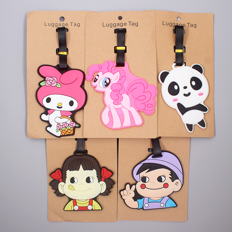 Cute Panda Horse Animals Luggage Tag Travel Accessories Silicone Suitcase ID Addres Holder Baggage Boarding Tag Portable Label