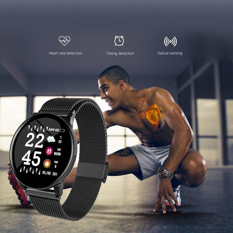 H98294d9bd54f4e4f881931fa2a2e0f2ca BINSSAW Couples Smart Watch Kid Heart Rate Blood Pressure Dynamic Fitness Tracker Wearable Electronics Devices Smart Sport Watch