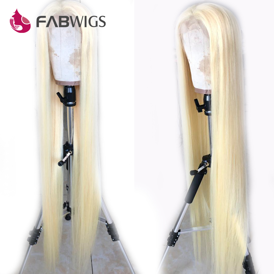 Fabwigs #613 Blonde Full Lace Human Hair Wigs Pre Plucked Transparent Lace Wigs Virgin Hair 12-50 30 inch image