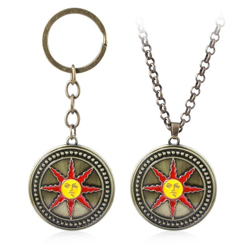 Dark Souls 3 Necklace Pendants Keyring For Women Men Car Bag Cosplay Keychain  Jewelry