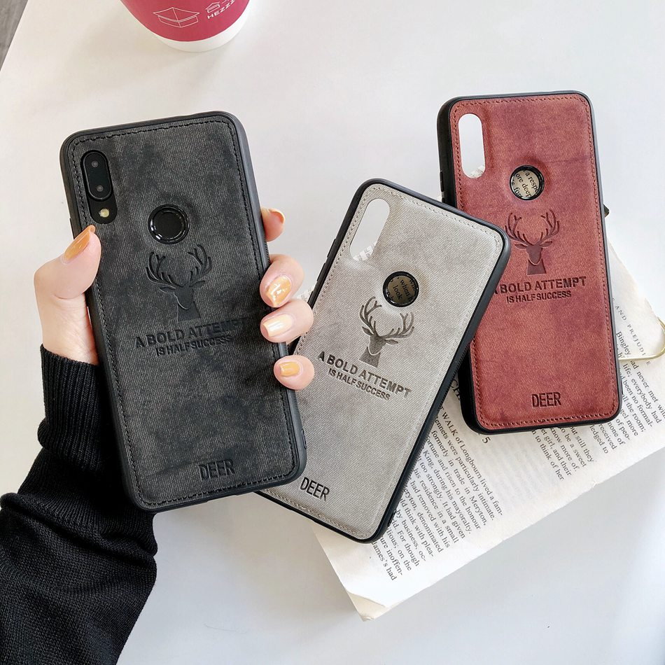 For iPhone 11 Case 11 Pro Max For iPhone XR Xs Max Fashion Elk Pattern Silicon TPU Cloth Texture Case For iPhone 7 Plus 8 Plus