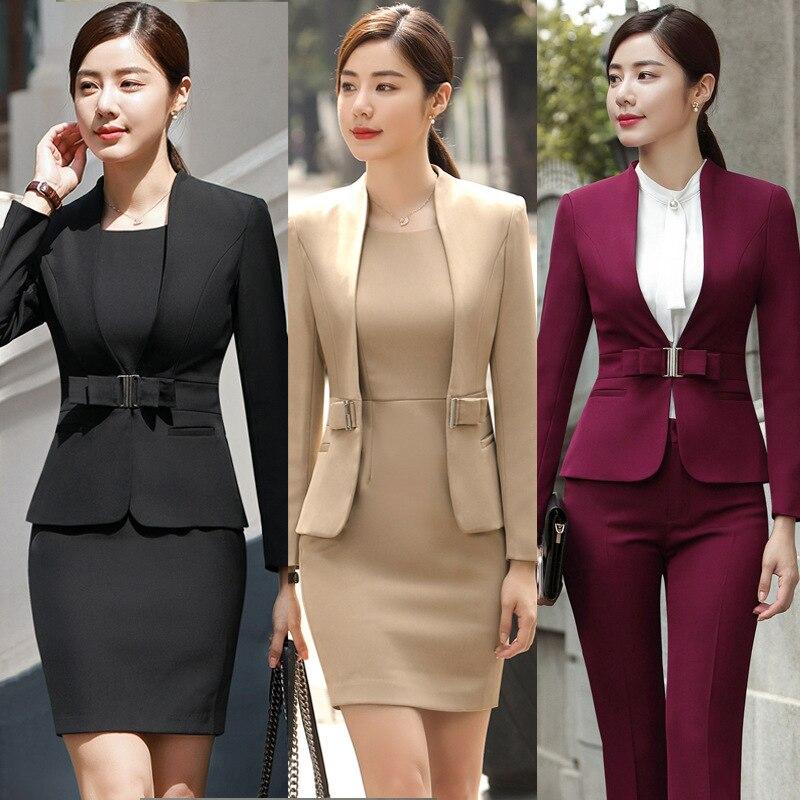 vin-chaud-noir-abricot-femme-elegante-bureau-blazer-robe-veste-costume-dames-tenue-de-bureau-ensembles-costumes-robes-d'affaires