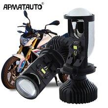 1Pcs H4 Hi/Lo โปรเจคเตอร์ลำแสงเลนส์รถจักรยานยนต์ Led ไฟหน้า35W สำหรับ Honda Mazda Yamaha Suzuki cafe Racer BMW 310R 310GS