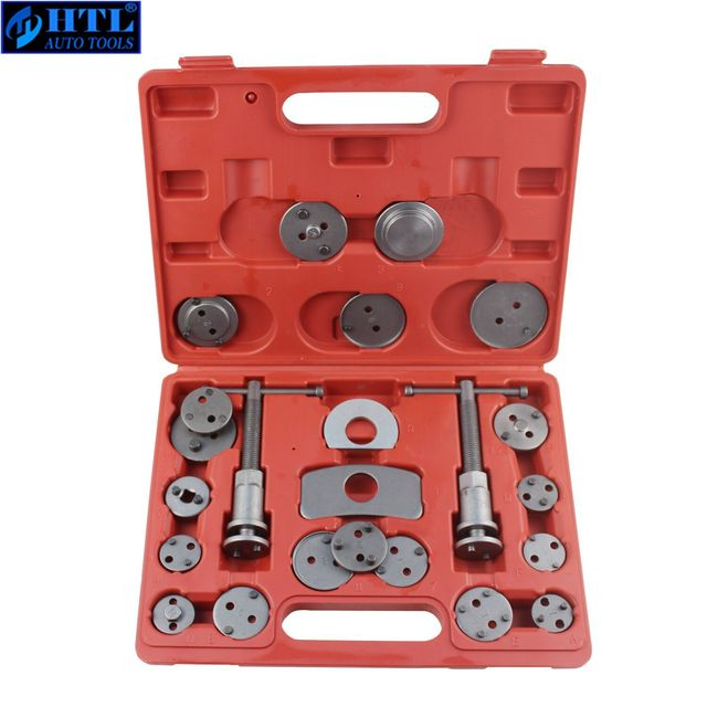 22pcs Universal Car Disc Brake Caliper Wind Back Brake Piston Compressor Tool Kit For Most Automobiles Garage Repair Tools