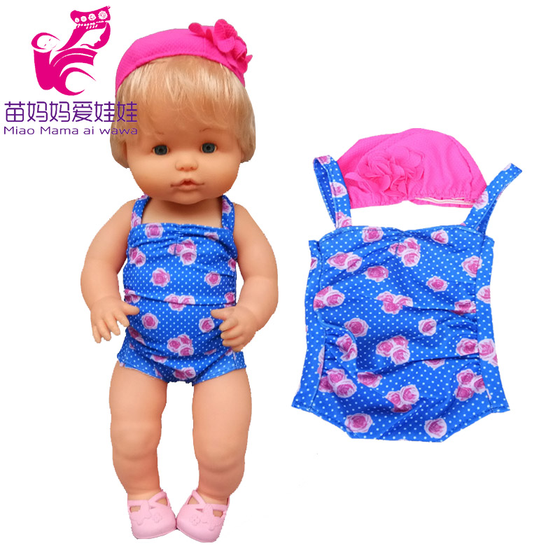 35 Cm  Baby Doll Swim Clothes  for 38 Cm Nenuco  Ropa Y Su Hermanita Rompers Doll Accessories