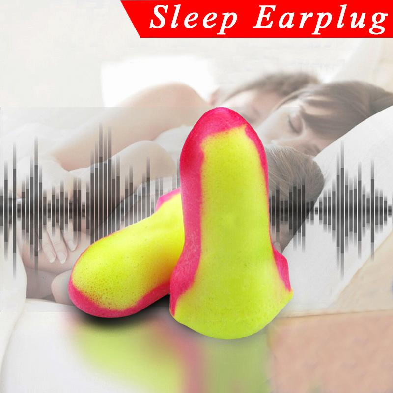 1/10  Pairs Fasion Earplugs Soft Foam Ear Plugs Snore Sleep Ear Protectors Anti Noise Free Shipping Good Quality Travel Portable