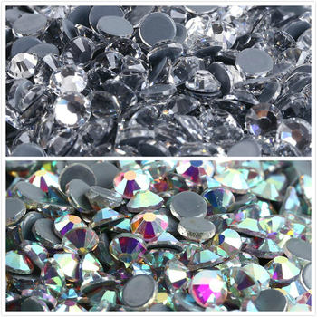 Glass Crystal AB/Clear Hotfix Rhinestone Flat Back Iron On Strass Crystal Stones Hot Fix Rhinestones For Fabric Garment 1 yard wide crystal clear rhinestone trim sew on rhinestone chain iron glue on hot fix rhinestones diy shoes clothing decoration