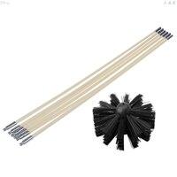 Nylon Pinsel Mit 6 stücke Lange Griff Flexible Rohr Stangen Für Kamin Wasserkocher Haus Reiniger Reinigung Tool Kit