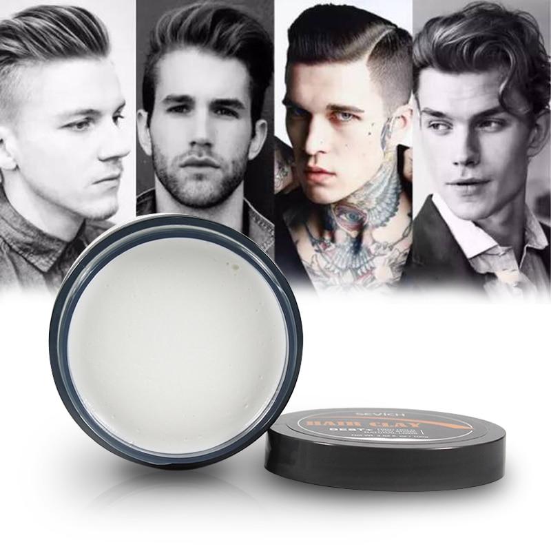 Глина для волос с высоким содержанием, воск для волос с низким блеском, натуральный внешний вид для мужчин, модный стиль для волос 80 г, лучший...