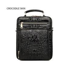 цена на fenge Thai crocodile skin man bag genuine leather cross-body bag single-shoulder bag stylish vertical crocodile men handbag man