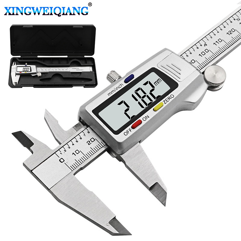 6-Inch 150mm Digital Calipers Stainless Steel Electronic Digital Vernier Caliper Metal Micrometer Measuring Tool CALIPER