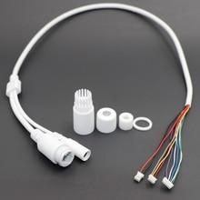CCTV POE IP Сетевая камера PCB модуль видео кабель питания Withe, 65 см в длину, RJ45 Женский Разъемы с терминалом, водонепроницаемый кабель