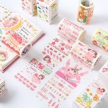 1 шт./лот клейкая лента из рисовой бумаги фруктовый цветной серии дневник, декоративные клеящаяся Скрапбукинг DIY Бумага японские наклейки 3M
