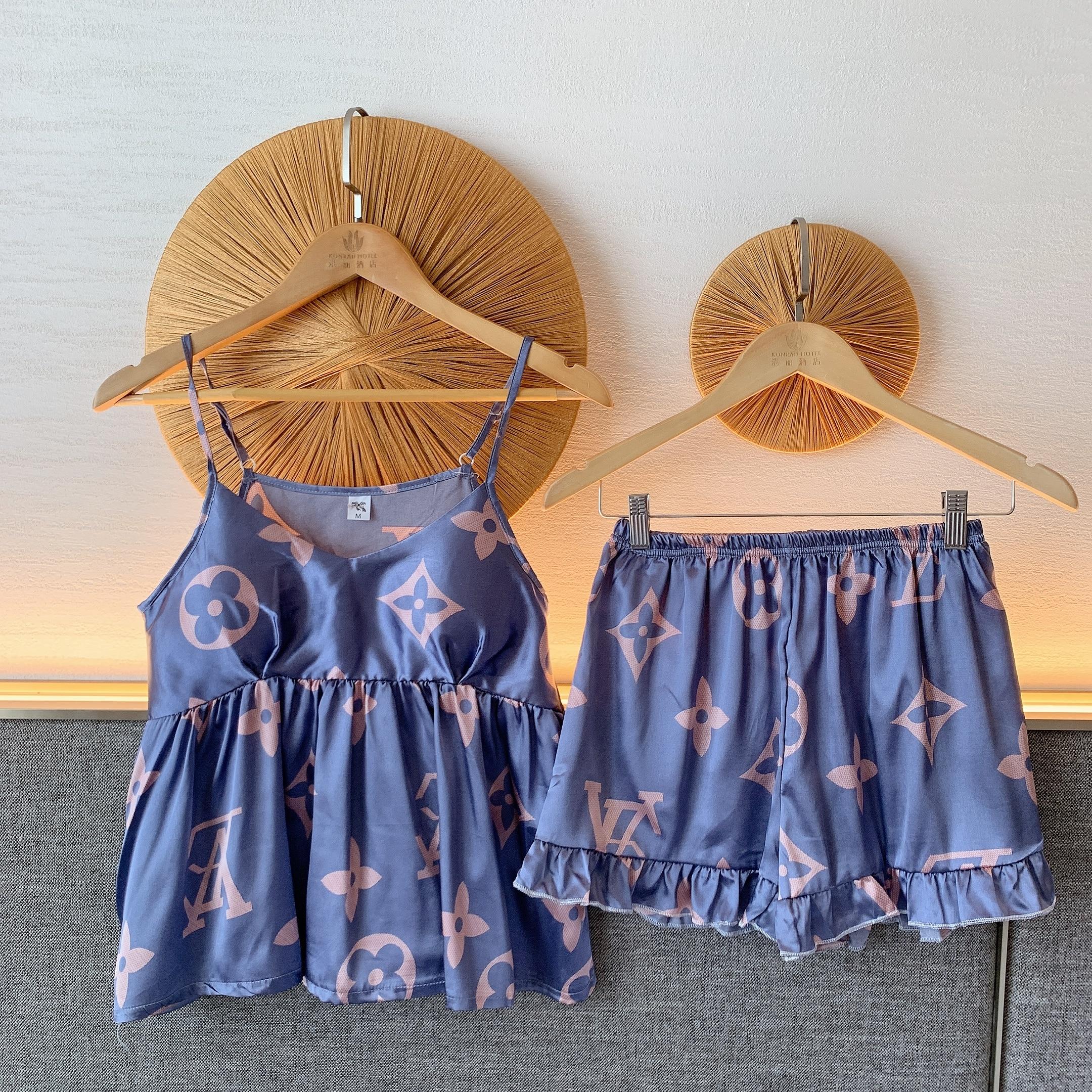 HaloSweet Sling Sleepwear Women Sexy Summer Slik Pajamas Home Clothes Female High Quality Lady Pijamas Shorts Two Piece Pyjamas|Pajama Sets| - AliExpress