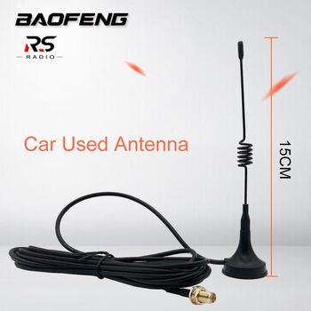 BAOFENG High Gain Antenna for BF-888S UV-5R Car Used Auto Magnet Outdoor Activity Necessary Accessories cb radio station RG-174 1