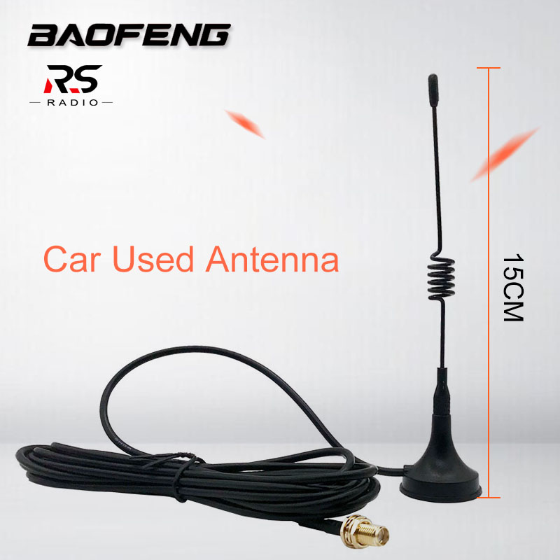 BAOFENG High Gain Antenna For BF-888S UV-5R Car Used Auto Magnet Outdoor Activity Necessary Accessories Cb Radio Station RG-174