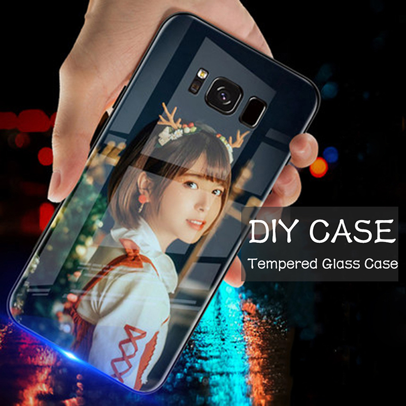 DIY Tempered Glass Phone <font><b>Case</b></font> For <font><b>OPPO</b></font> A92 A92S A9 A5 A31 2020 A9X A91 <font><b>A83</b></font> A1 A8 A79 A77 A73 A7X A7 A11 A11X Custom <font><b>Case</b></font> <font><b>Cover</b></font> image