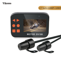 Vikewe 2.7 Inch 1080P DV188 Motorcycle DVR Dual Waterproof Lens Motorbike Action Sports Camera Video Recorder Night Vision