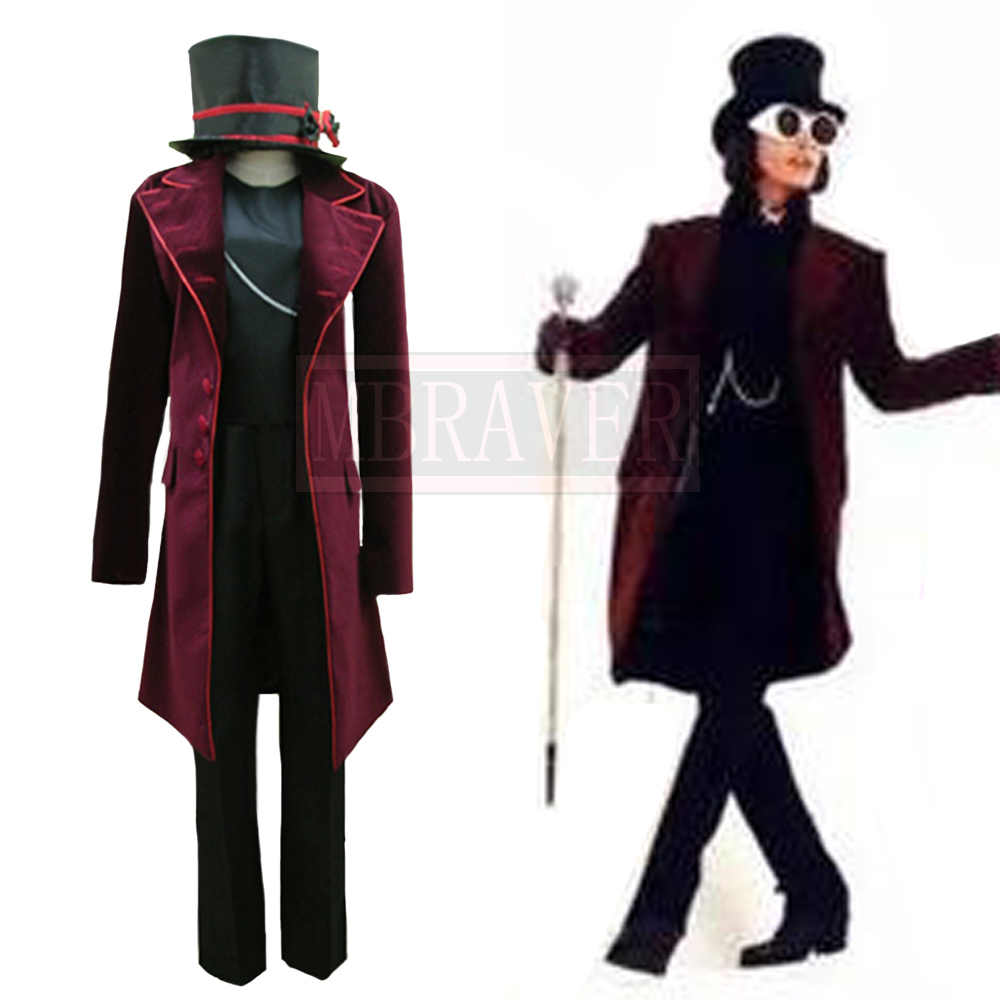 Charlie and the Chocolate Factory Johnny Depp Willy Wonka Cos Halloween  Uniform Full Set Cosplay Costume Custom Made Any Size|Movie & TV costumes