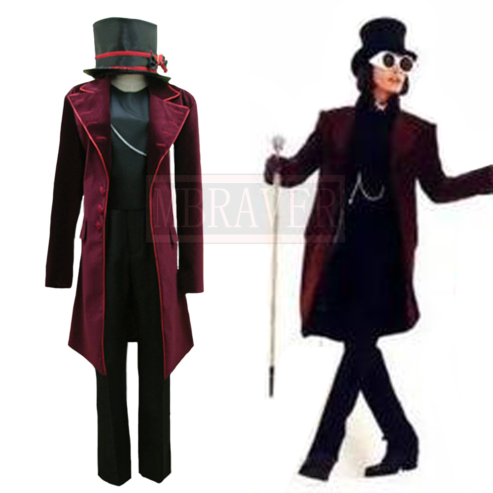 Charlie and the Chocolate Factory Cosplay Costume Johnny Depp Willy Wonka Coat