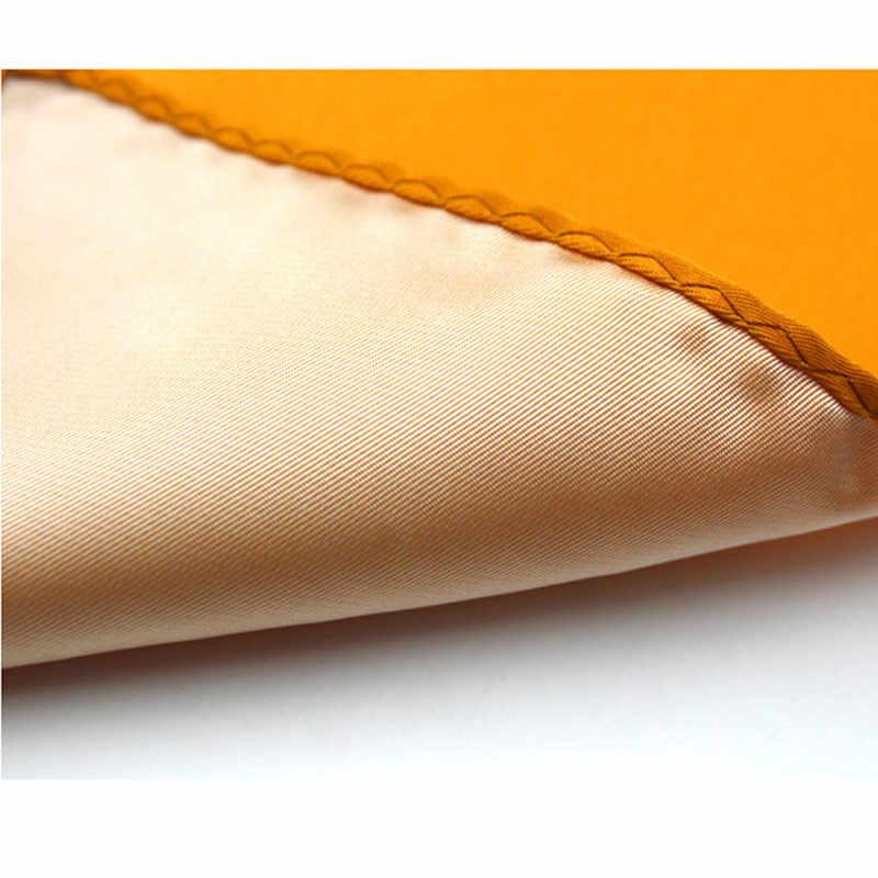 Fabriek Mannen Polyester Zijde Satijn Zakdoek 36 Kleuren Solid Plain Pocket Plein Hanky Wedding Party Kerst Borst Handdoek