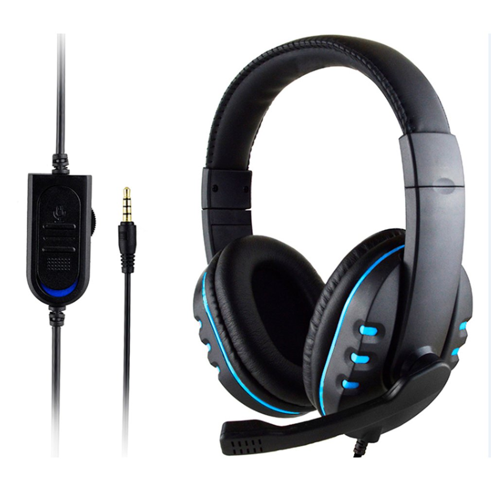 Stereo Wired Gaming Headsets Kopfhörer mit <font><b>Mic</b></font> Für PS4 Sony PlayStation 4 / PC image