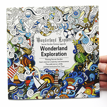 1PCS Creative 24 Pages English Version Wonderland Exploration Coloring Book For Adult Relieve Stress Graffiti Drawing Art - discount item  5% OFF Books