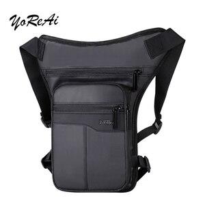 Waterproof Nylon Drop Leg bag For Men Thigh Hip Bum Beltleg Fanny Pack Waist Travel Riding Motorcycle Crossbody Shoulder Bags