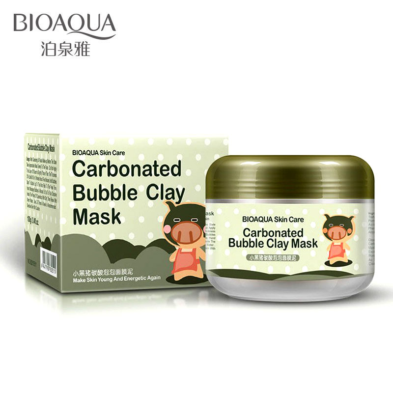 BIOAQUA Carbonated Bubble Clay Mask Mask For The Face Moisturizing Whitening Anti-Aging Acne Treatment Hyaluronic Acid Face Mask