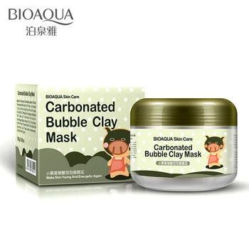 BIOAQUA Carbonated Bubble Clay Mask Mask for the Face Moisturizing Whitening Anti-Aging Acne Treatment Hyaluronic Acid Face Mask цена 2017