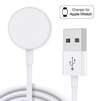 Портативное беспроводное зарядное устройство для IWatch 6 SE 5 4, магнитная зарядная док станция, зарядный USB кабель для Apple Watch Series 5 4 3 2 1|Зарядные устройства|   | АлиЭкспресс