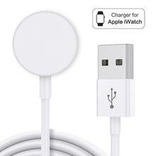 Портативное беспроводное зарядное устройство для IWatch 6 SE 5 4, магнитная зарядная док-станция, зарядный USB-кабель для Apple Watch Series 5 4 3 2 1