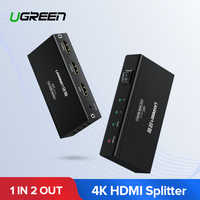 Ugreen 1 In 2 Out HDMI Splitter 4K HDCP1.4 Splitter HDMI 1x2 1x4 1x8 Adapter with EU Power for PS4 Xbox One HDMI Switch Splitter