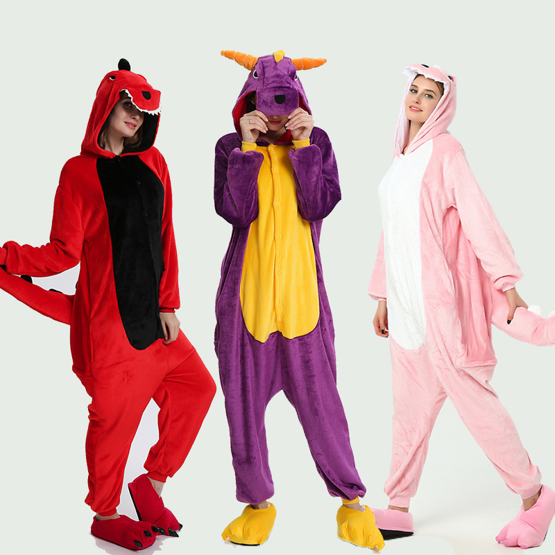 Adult Unicorn Animal Onesie Men Women Unicorn Sleepwear Pajama Soft Fancy Anime Unicornio Pijima 2019 Winter Overall Nightwear
