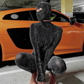 Simenual Glitter Seide Dünne Strampler Frauen Overall Mit Kappe Langarm Bodycon Club Party Backless Frauen One Piece Outfit