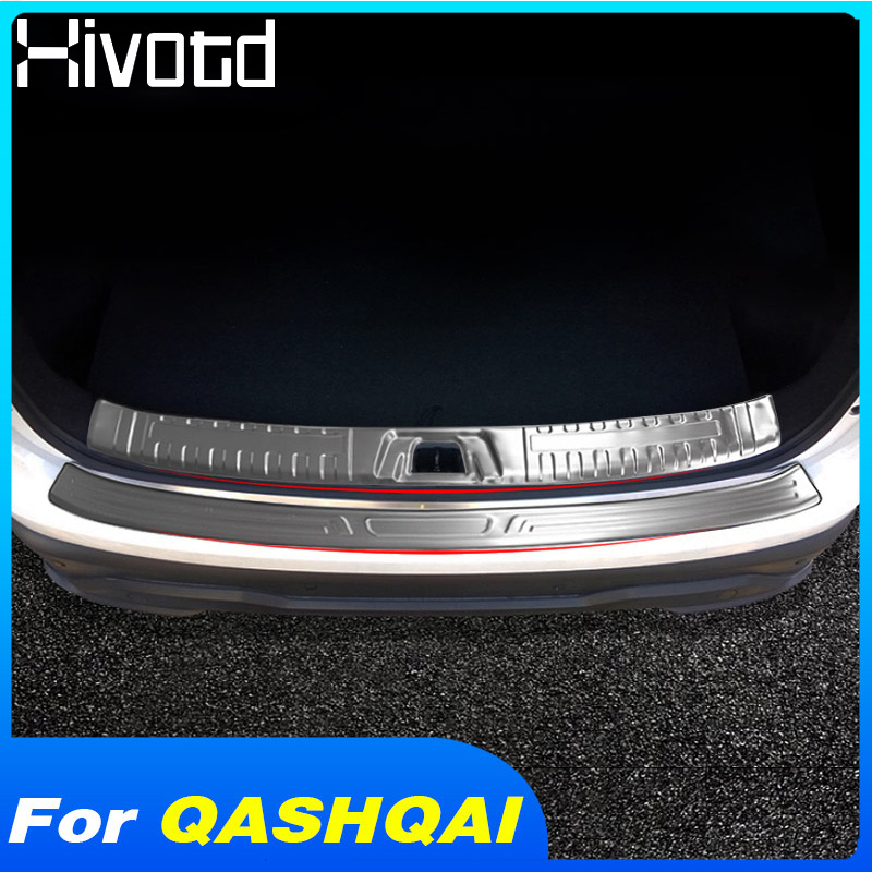 US $42.5 38% OFF|Hivotd For Nissan qashqai j11 Dualis 2019 Rear Bumper Protector Cover Panel trim Chromium Styling Stainless Steel Accessories|Chromium Styling| |  - AliExpress