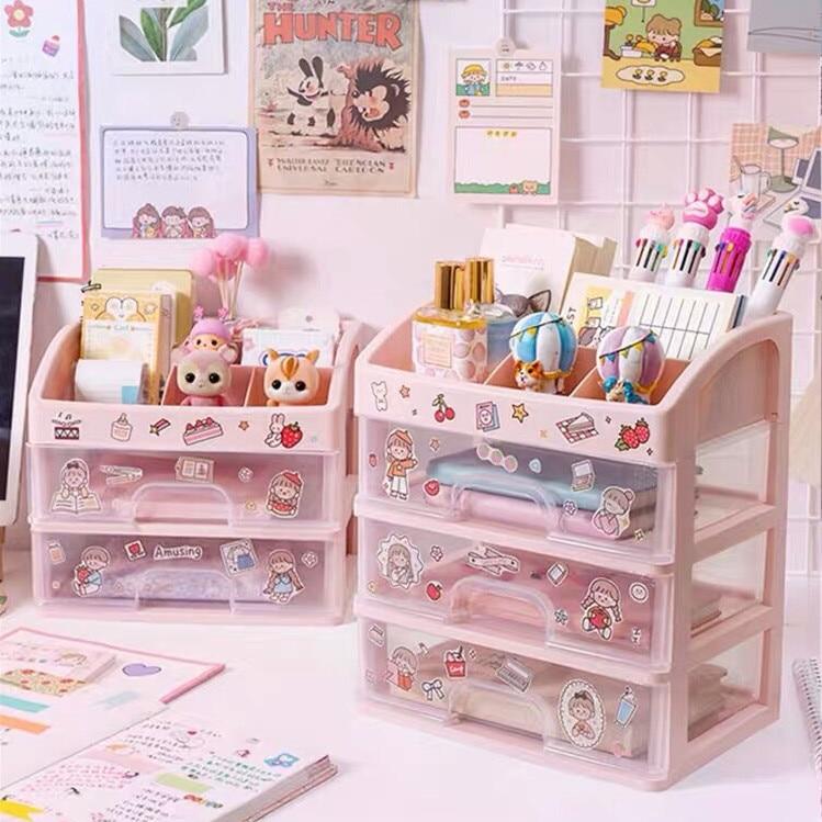 Free Sticker School Stationery Cicig, Pink School Desk Organizer