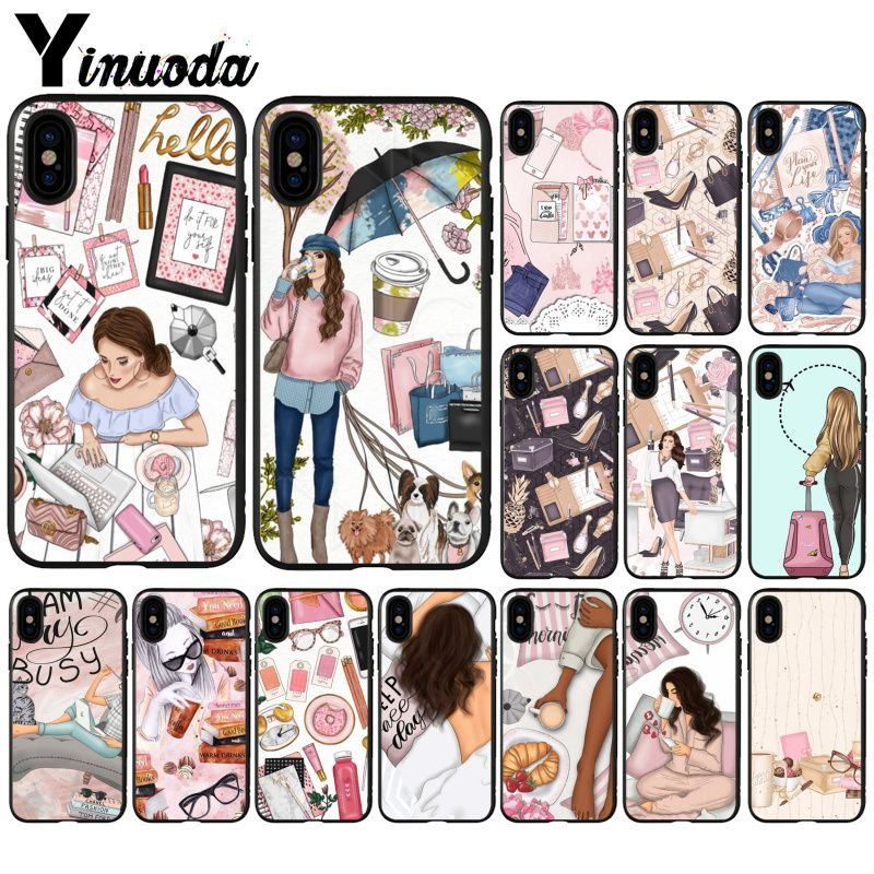 Buy Yinuoda fashion DIY Painted Beautiful Phone Accessories Case for Apple iPhone 8 7 6 6S Plus X XS MAX 5 5S SE XR 11 11pro max for only 1.09 USD