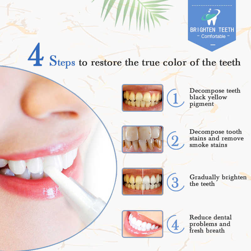 Dental 4 мл Стоматологическая лабораторная гелевая ручка для отбеливания зубов с полосками для отбеливания зубов легко использовать отбеливание зубов отбеливатель подарок для дантиста TSLM2