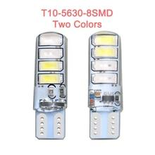 цена на 2 Pcs LED light bulb canbus T10 5630 8SMD W5W 12V Car Clearance Liscese plate light