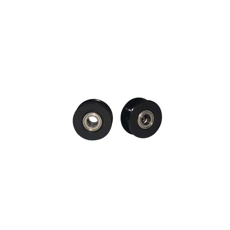 2GT 20 ฟันล้อซิงโครนัส Idler Pulley สีดำ BORE 3mm 4mm 5 มม.พร้อมแบริ่งสำหรับ GT2 จับเวลาเข็มขัดกว้าง 10 มม.20 ฟัน 20 T