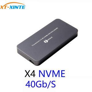 Thunderbolt3 40 Гбит/с SSD коробка PCI-E NVME M.2 SSD корпус type-C Алюминиевый Thunderbolt 3 40G C к C кабель для ноутбука настольного компьютера