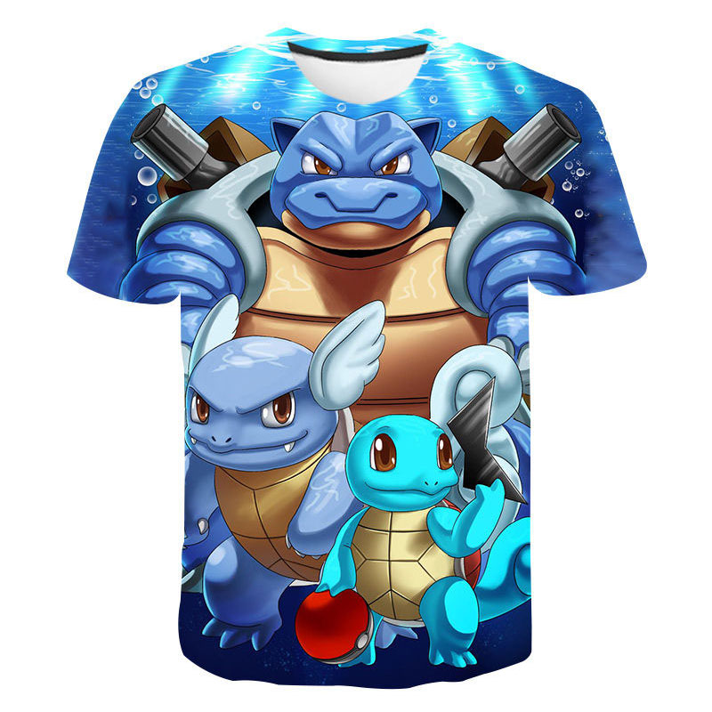 3D Baby Girls Clothes Pokemon T Shirt Kids Kawaii Pikachu Children's Clothes High Quality Japan Anime Camiseta Boys Clothes Tops