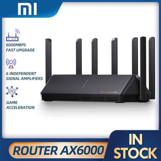 2021 Xiaomi Router AX6000 AIoT Router 6000Mbs WiFi6 VPN 512MB CPU Mesh Repeater External Signal Network Amplifier Repeater