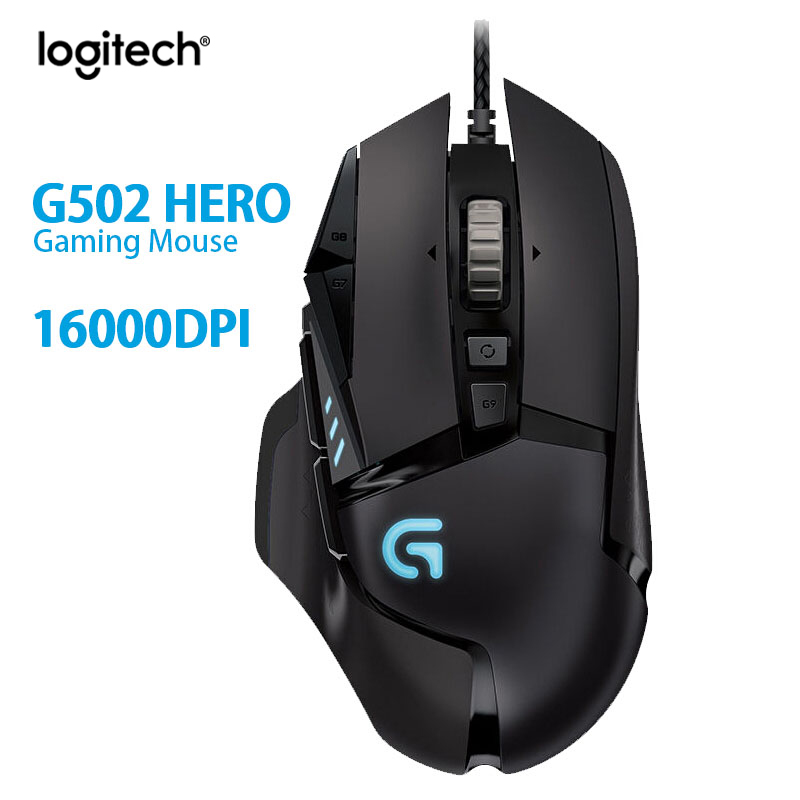 Original Logitech G502 Hero High Performance Game Mouse Hero Engine 16000DPI RGB Glare G502 RGB Upgrad,Suitable for mouse gamers image