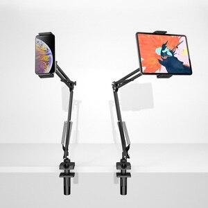 Image 3 - LINGCHEN evrensel yatak/masaüstü Tablet tutucu standı 360 derece dönen ayarlanabilir cep telefon tutucu iPad iPhone için 11 8 X XS