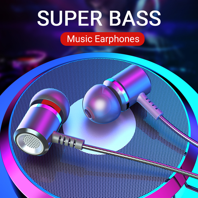 Langsdom Alloy wired in ear Earphone M400 portable gaming headset super bass stereo for music sports earphones with microphones
