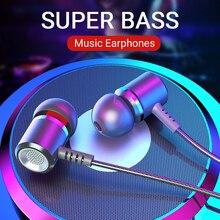 Langsdom Lega di wired in ear Auricolare M400 portatile gaming auricolare super bass stereo per la musica di sport auricolari con microfono