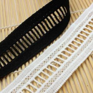 14 yards 3 cm White Black Mesh